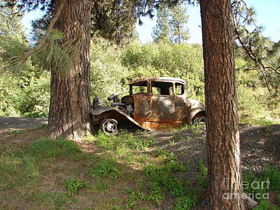 Photograph - Vintage Wreck Of A Model A Ford Roadster by Windy Mountain