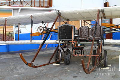 Vintage Wright Brothers Type Airplane . 7d11147 Art Print by Wingsdomain Art and Photography