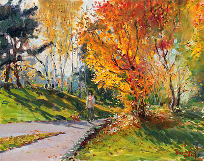 With Painting - Viola In A Nice Autumn Day  by Ylli Haruni