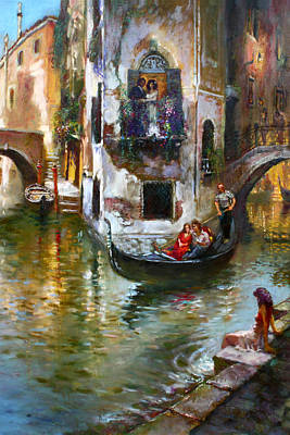Reflection Painting - Viola In Venice by Ylli Haruni