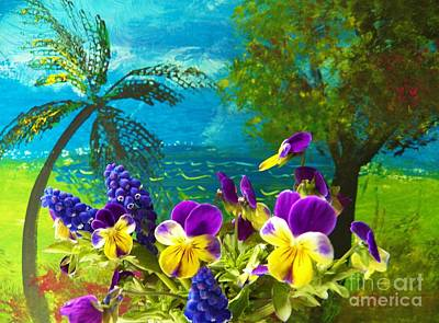 Painting - Viola Island by Judy Via-Wolff