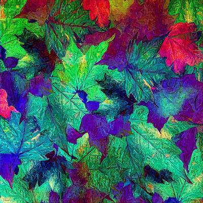 Red Leaf Digital Art - Violaceous by Lourry Legarde