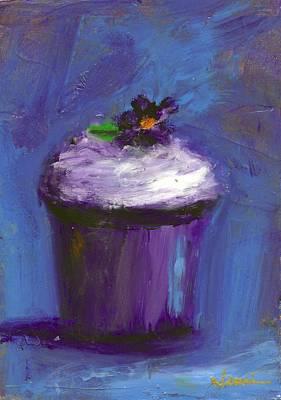 Jeannine Painting - Violet Blue by Jeannine Luke