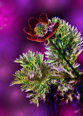 Violet Labialize Flora Art Print by Bill Tiepelman