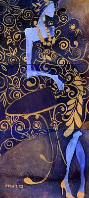 Violet Lady Art Print
