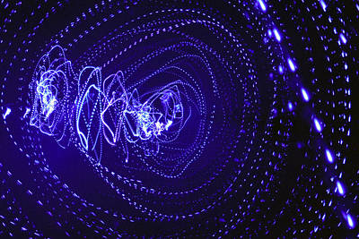 Surrealism Royalty-Free and Rights-Managed Images - Violet neon lights 2 by Sumit Mehndiratta