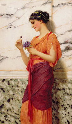 Violets Art Print by John William Godward