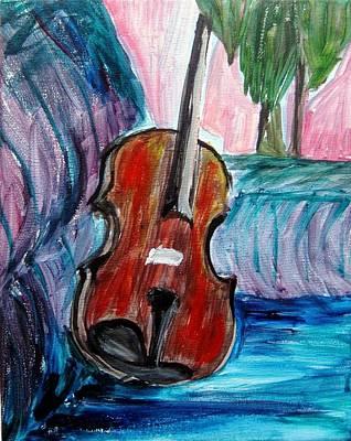 Painting - Violin by Amanda Dinan