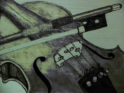 Pyrography Pyrography - Violin by Andrew Siecienski