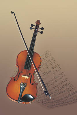 Violin Photograph - Violin by Comstock