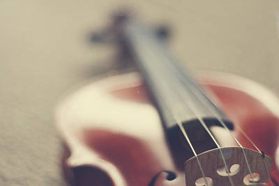 On Violin Photograph - Violin by JuliaMariePhotographie