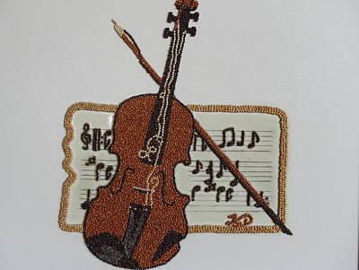 Violin Print by Kovats Daniela