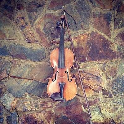 Music Wall Art - Photograph - Violin by Peter McD