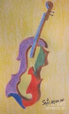 Violin Art Print by Safa Al-Rubaye