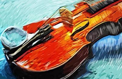 Violin Digital Art - Violin by Tilly Williams