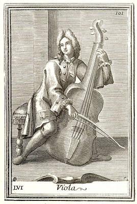 Violoncello, 1723 Art Print by Granger