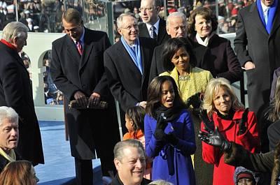Vips Await The Beginning Of Barack Print by Everett