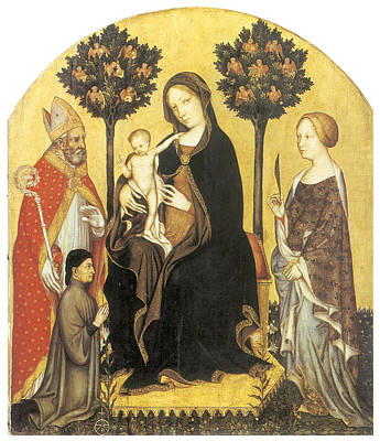 Virgin And Child Enthroned Art Print by Gentile Da Fabriano
