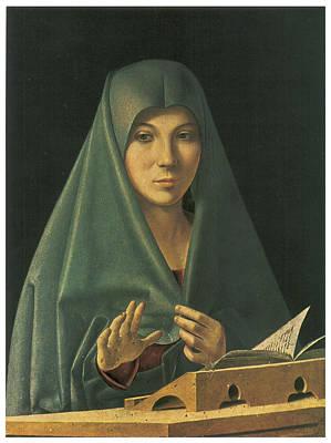 Virgin Annunciate Art Print by Antonello Da Messina