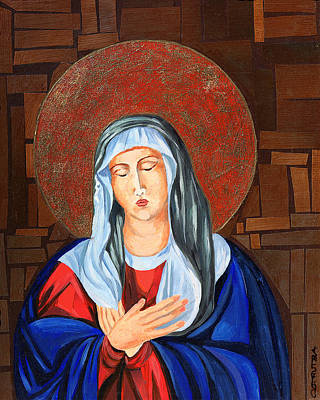 Virgin Mary Art Print by Claudia French