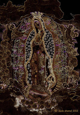 Food And Flowers Still Life - Virgin of Guadalupe 3 by Dede Shamel Davalos