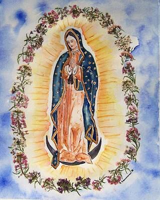 Painting - Virgin Of Guadalupe by Regina Ammerman