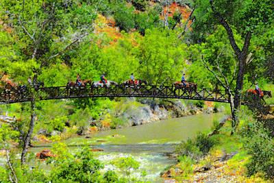Zion National Park Digital Art - Virgin River Crossing by David Lee Thompson