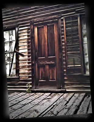 Virginia City Ghost Town Door I Art Print