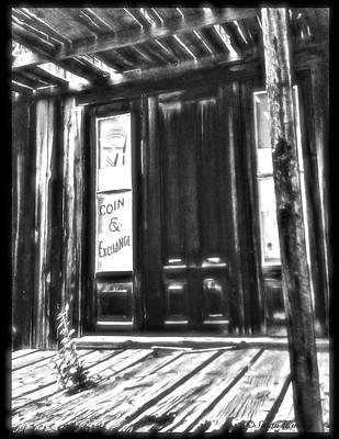 Virginia City Ghost Town Door II Art Print by Susan Kinney