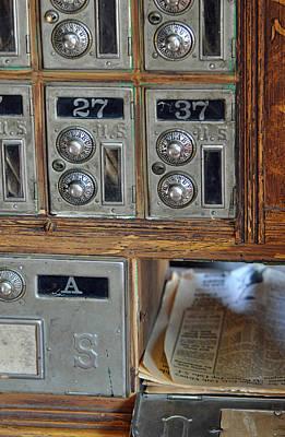 Virginia City Post Office Box Art Print by Bruce Gourley