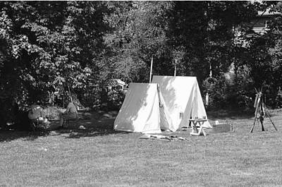 Mosby Photograph - Virginia Encampment Mosby House Lawn 150th Anniversary Of The American Civil War Warrenton Virginia by Jonathan Whichard