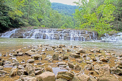 White And Black Waterfalls Photograph - Virginia Waterfalls by Betsy Knapp