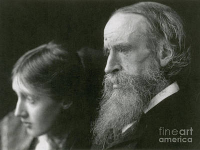 Woolf Photograph - Virginia Woolf With Her Father by Photo Researchers