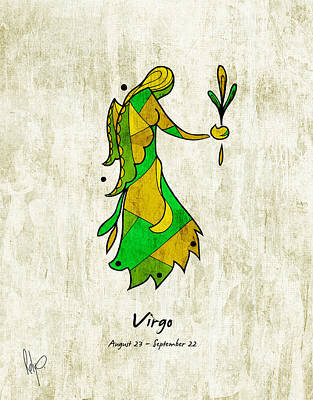 Virgo Drawing - Virgo Artwork by Roly Orihuela