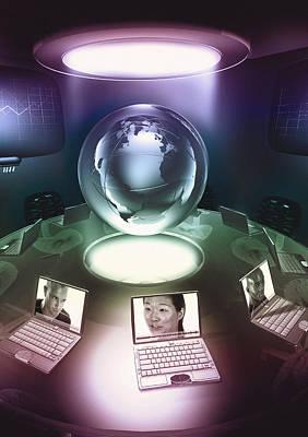 Virtual Office Art Print by Coneyl Jay