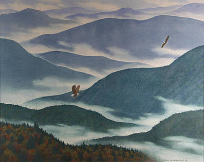 Smoky Painting - Vision Of The Great Smokies by Glen Heberling