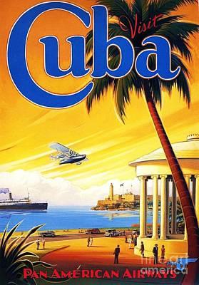 Visit Cuba Art Print