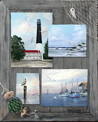 Painting - Visit To The Gulf - Pensacola by Gary Partin