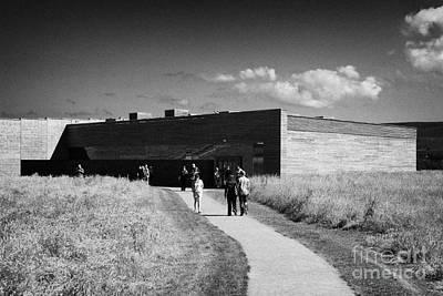 visitors centre at Culloden moor battlefield site highlands scotland Art Print