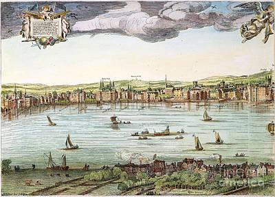 Visscher: London, 1616 Art Print by Granger