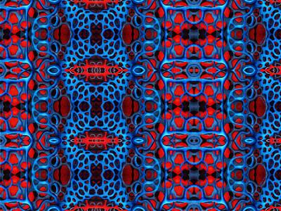 Layered Digital Painting - Vital Network II Design Large by Nancy Mueller