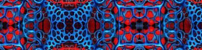 Layered Digital Painting - Vital Network II Design by Nancy Mueller