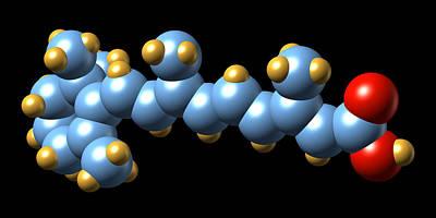 Vitamin A (retinoic Acid) Molecule Art Print by Dr Mark J. Winter