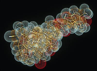 Vitamin B12 Molecule Art Print by Pasieka