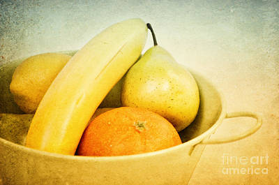 Banana Mixed Media - Vitamina by Angela Doelling AD DESIGN Photo and PhotoArt