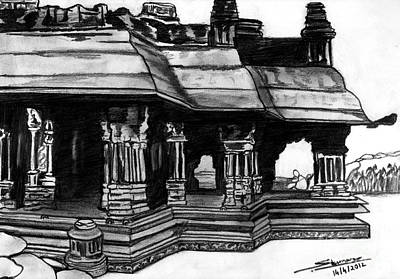 Vittala Temple Hampi Art Print by Shashi Kumar