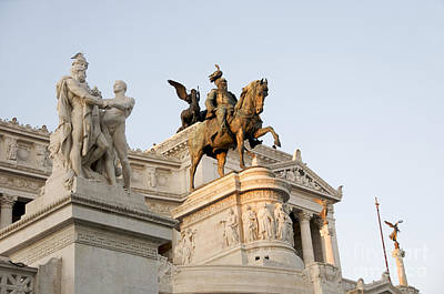 Statuary Photograph - Vittoriano. Monument To Victor Emmanuel II. Rome by Bernard Jaubert