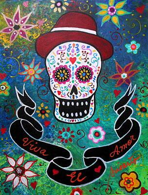 El Amor Painting - Viva El Amor Day Of The Dead by Pristine Cartera Turkus