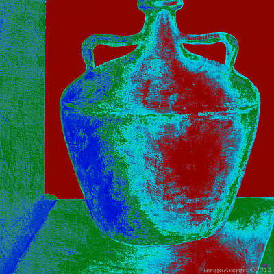 Painting - Vivid Greek Vessel - One by Forartsake Studio