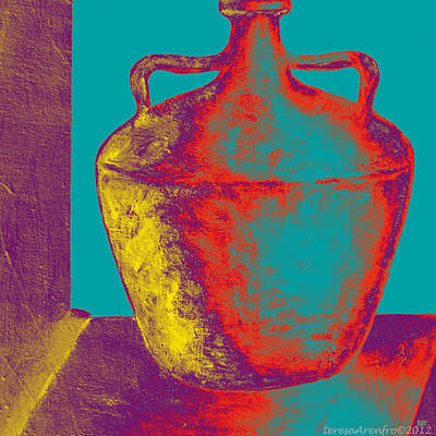 Painting - Vivid Greek Vessel - Two by Forartsake Studio